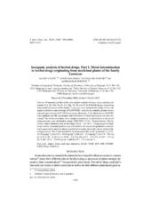 Inorganic analysis of herbal drugs  Part I  Metal