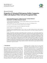Properties of Vulcanized Polyisoprene Rubber Composites